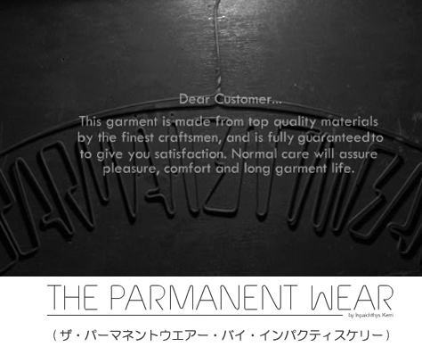 THE PARMANENT WEAR.by Inpaichthys Kerri